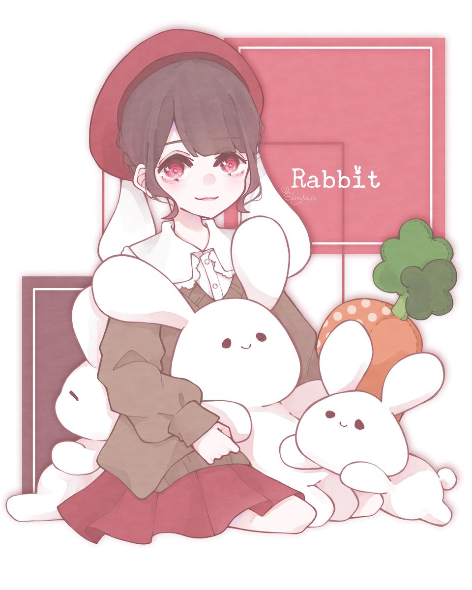 🐰🥕💞 Illust of しろなち illustration girl original rabbit