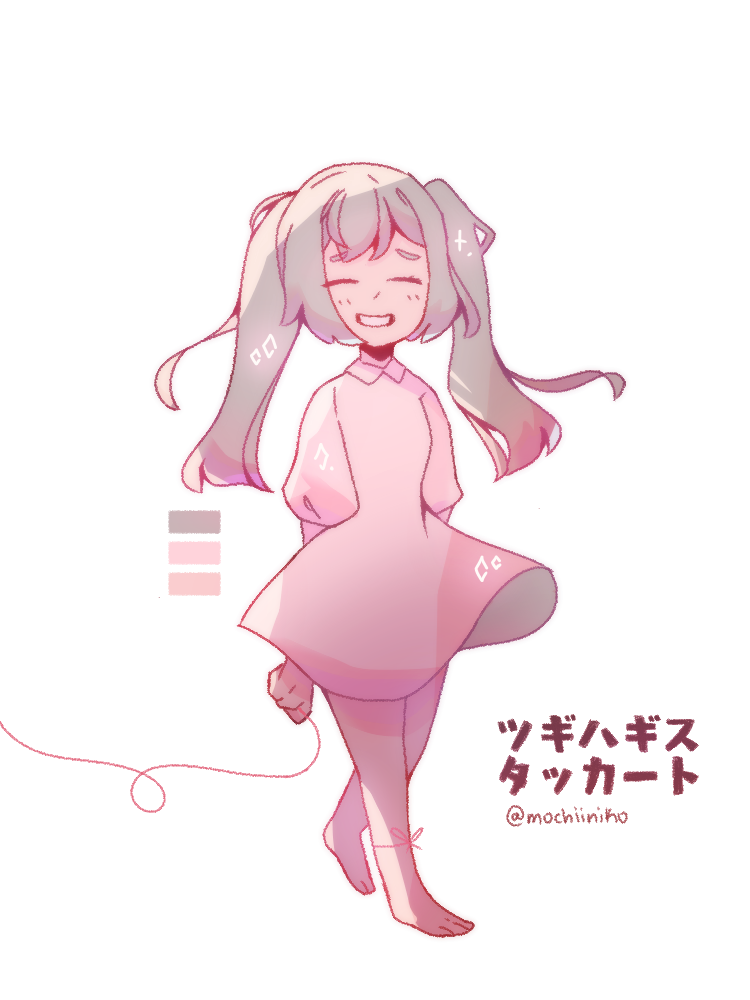 Patchwork Staccato Illust of MochiiNiko medibangpaint VOCALOID girl aesthetic pink hatsunemiku pastel cute