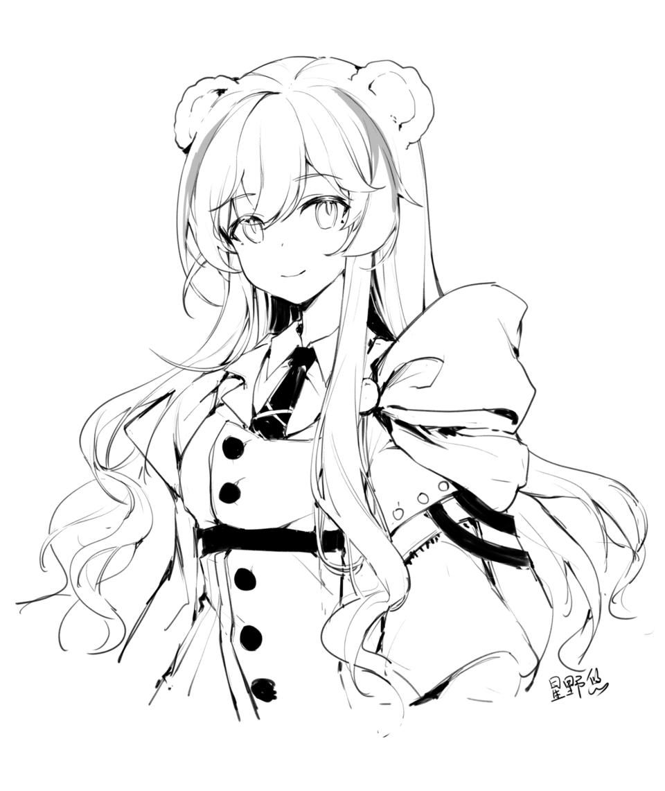 Illust of kitere medibangpaint Arknights girl ローサ(アークナイツ)