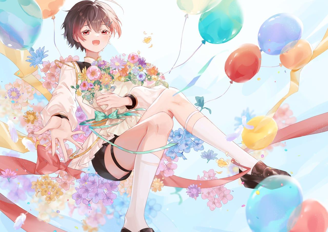 Happy birthday Illust of 小鳥遊青 插图 illustration 同人