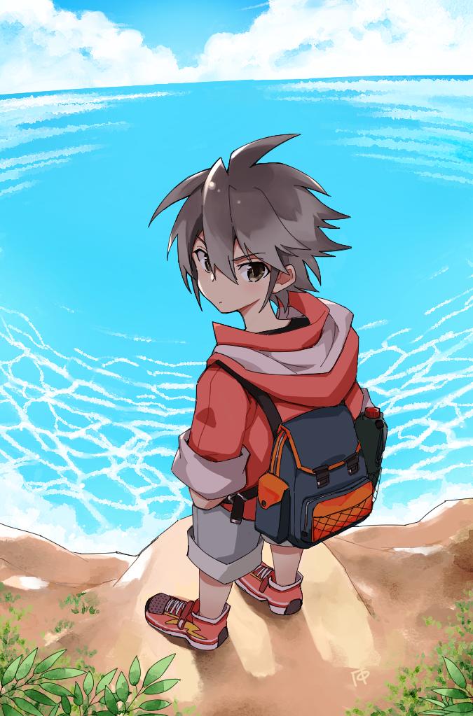 少年と海 Illust of ГФ shonen original boy