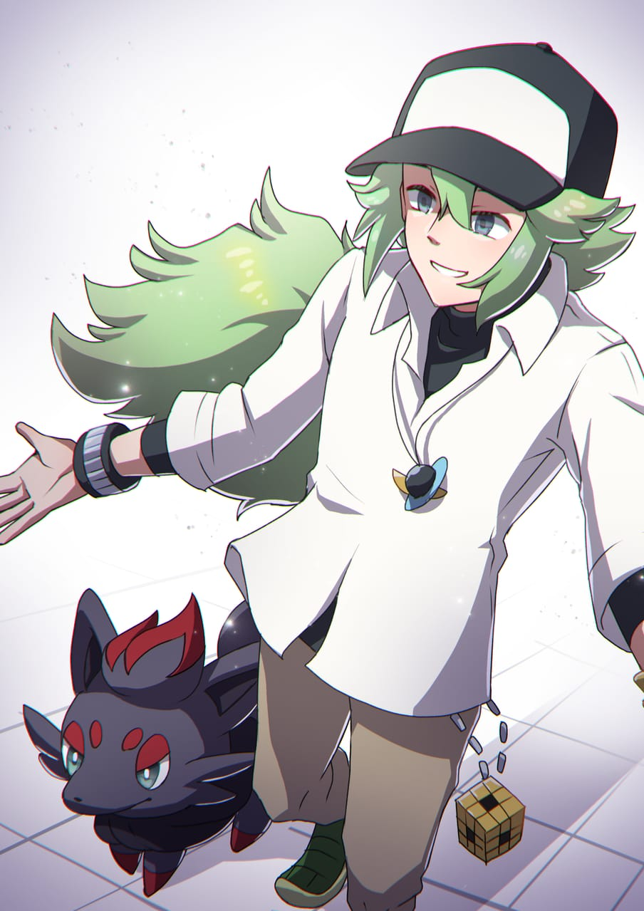 Nとゾロア Illust of 日夏なつお pokemon ゾロア N(ポケモン) ポケモンBW
