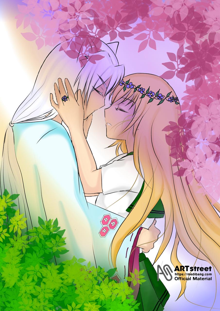My fox Boyfriend Illust of Kenshiin03 romance fantasy tracedrawing medibangpaint anime yokaiwatch