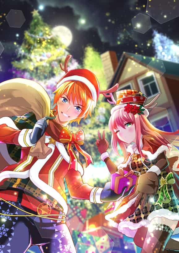 Christmas Illust of 心融 original 男女 boy girl Christmas