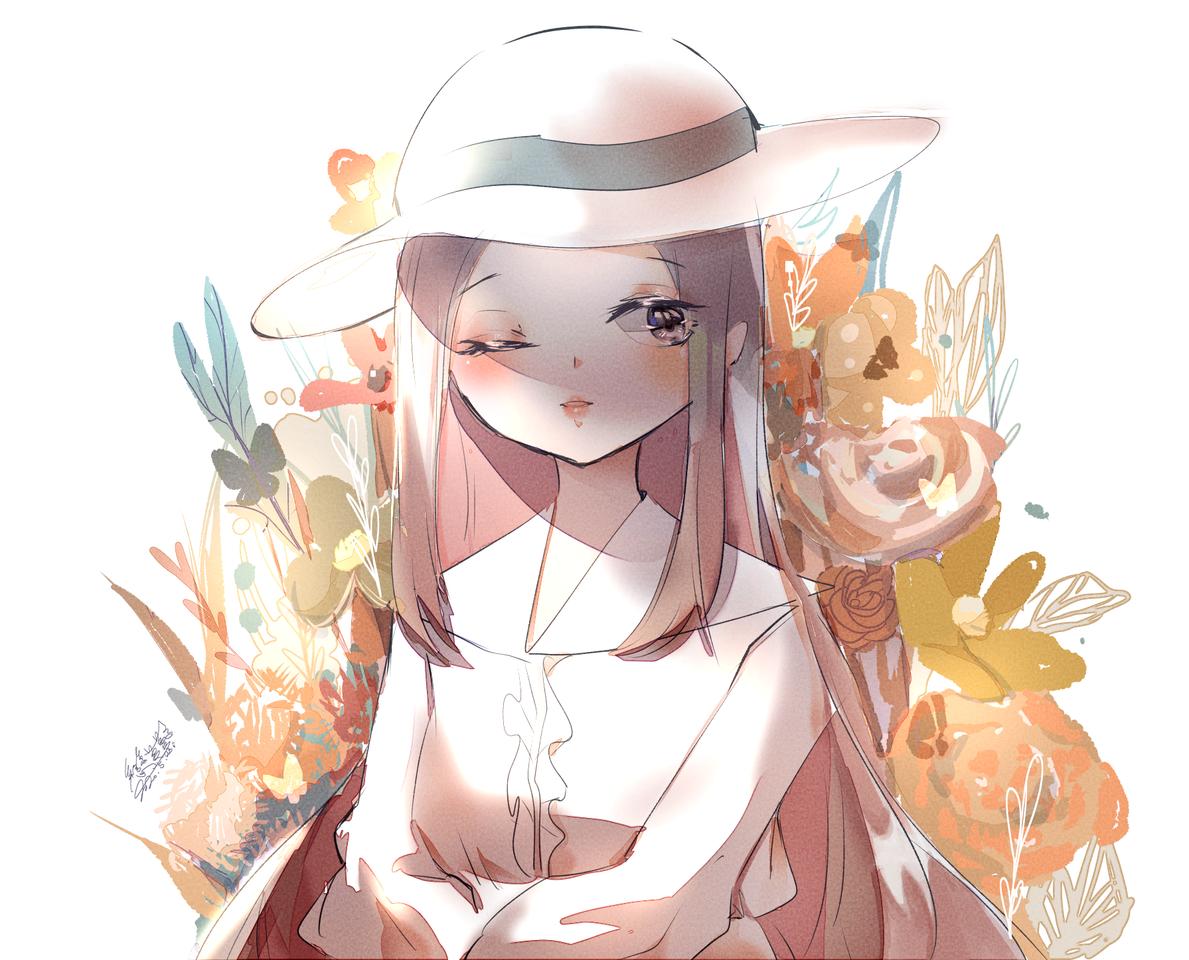 花x少女 Illust of 戀夢夢 April.2020Contest:Color dress medibangpaint girl 戀夢夢 sailor_uniform smile original お気に入り