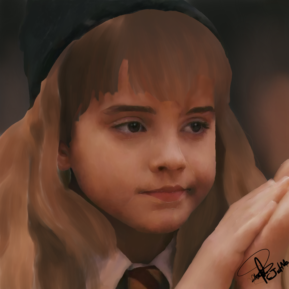 Hermione Granger (made on medibang paint)  Illust of CJustMe medibangpaint blonde iPad_raffle girl harry realistic cute potter pretty portrait