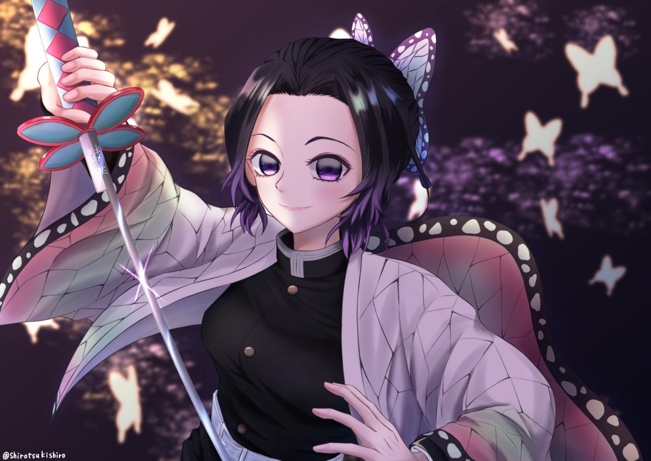 胡蝶しのぶ Illust of Dari(Kurobane_Fuka) KimetsunoYaiba KochouShinobu