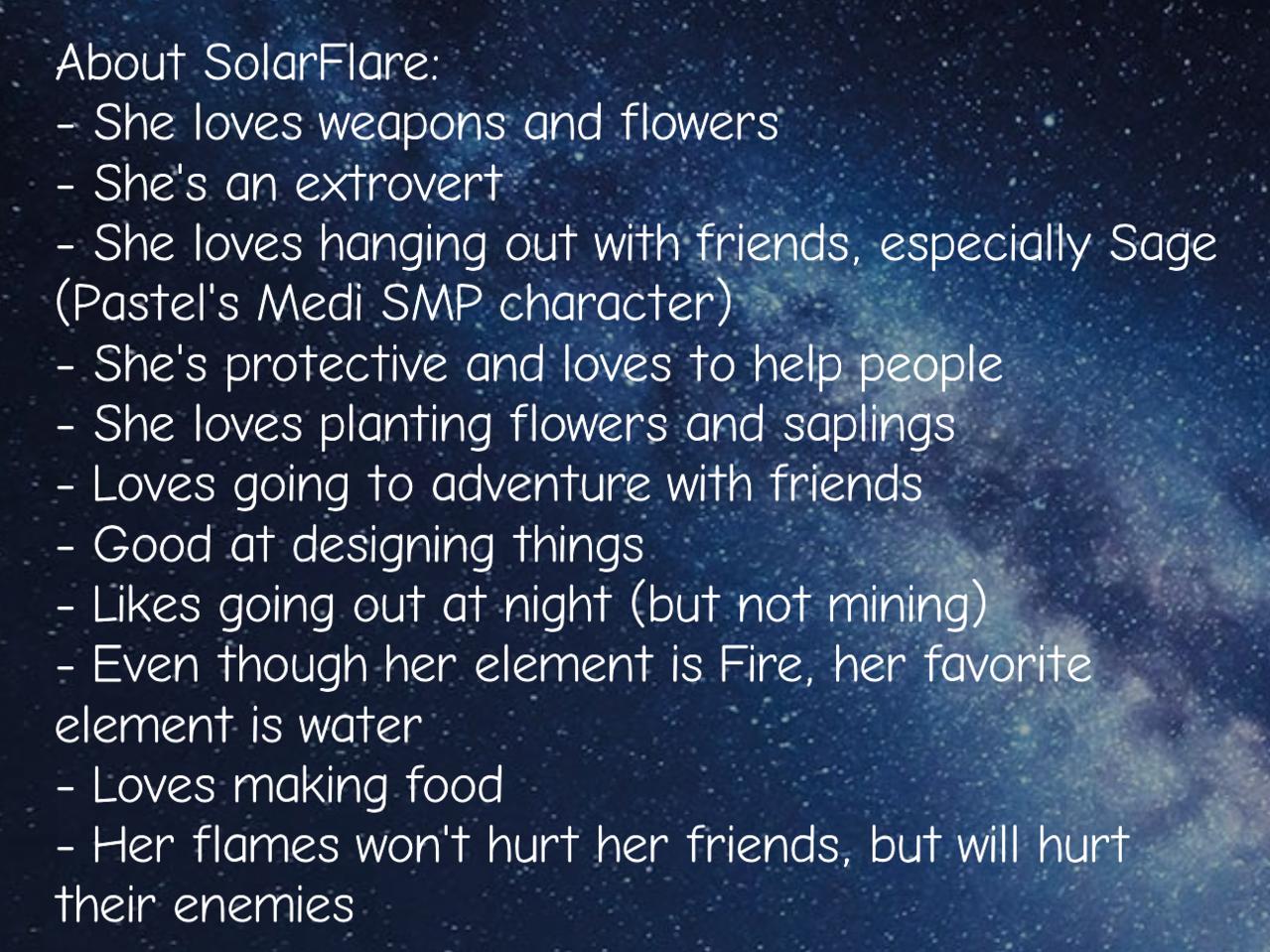 My Medi SMP character Persona Illust of Izayoi Mikasa fire girl Persona oc SolarFlare