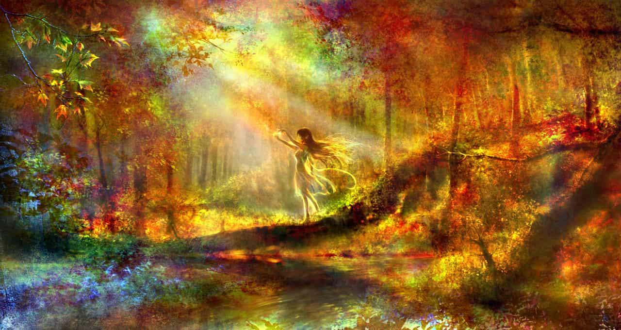 秋之印象繪本-深秋林間的晨光