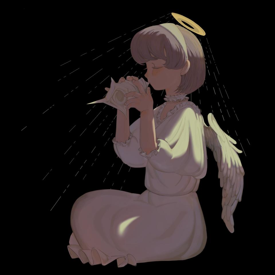 Illust of CHIKUZEN original angel illustration