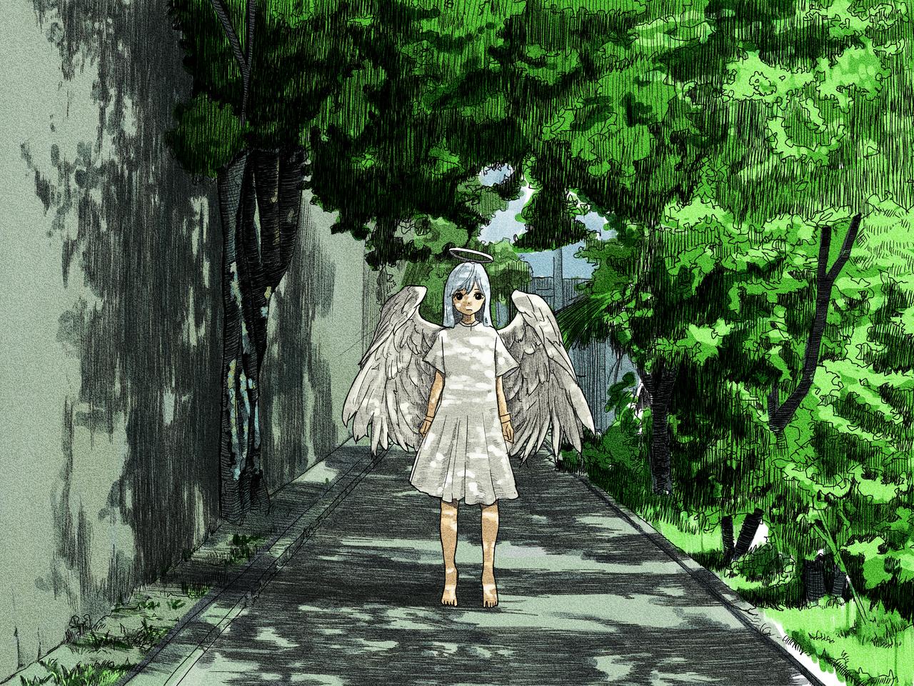 寄り道 Illust of Yusaku M. medibangpaint angel scenery original