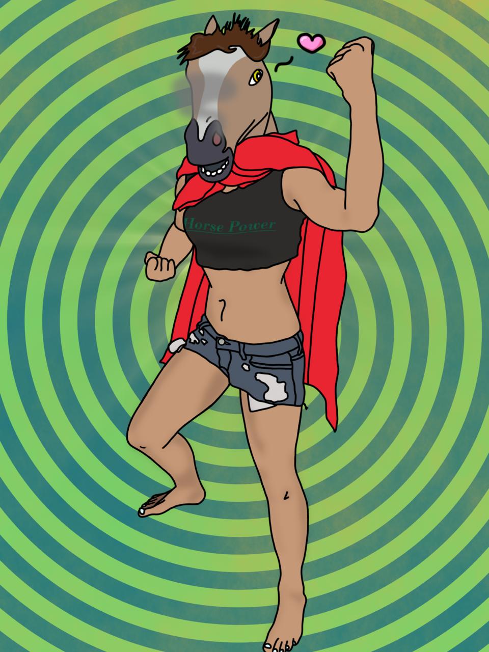 Why the Long Face? Illust of CopperNeon comedy September2020_Contest:Furry MyIdealWaifu_MyIdealHusbandoContest MyIdealWaifu cute Horse girl Halloween love anime hero cartoon funny