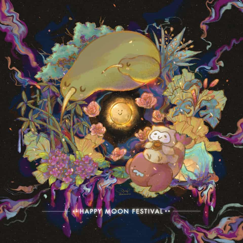 Moon festival  Illust of 阿孟 Post_Multiple_Images_Contest character impasto original illustration 原創角色