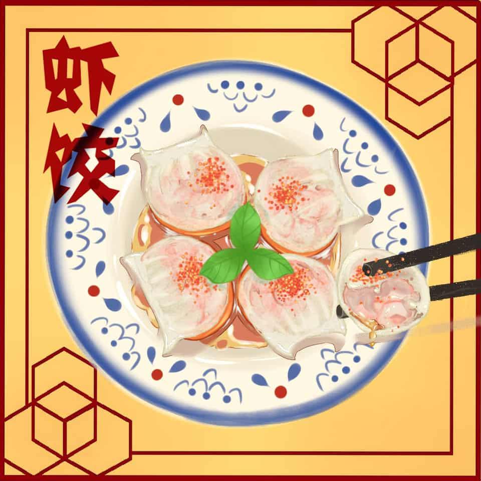虾饺 Illust of 小女棠棠 October2020_Contest:Food