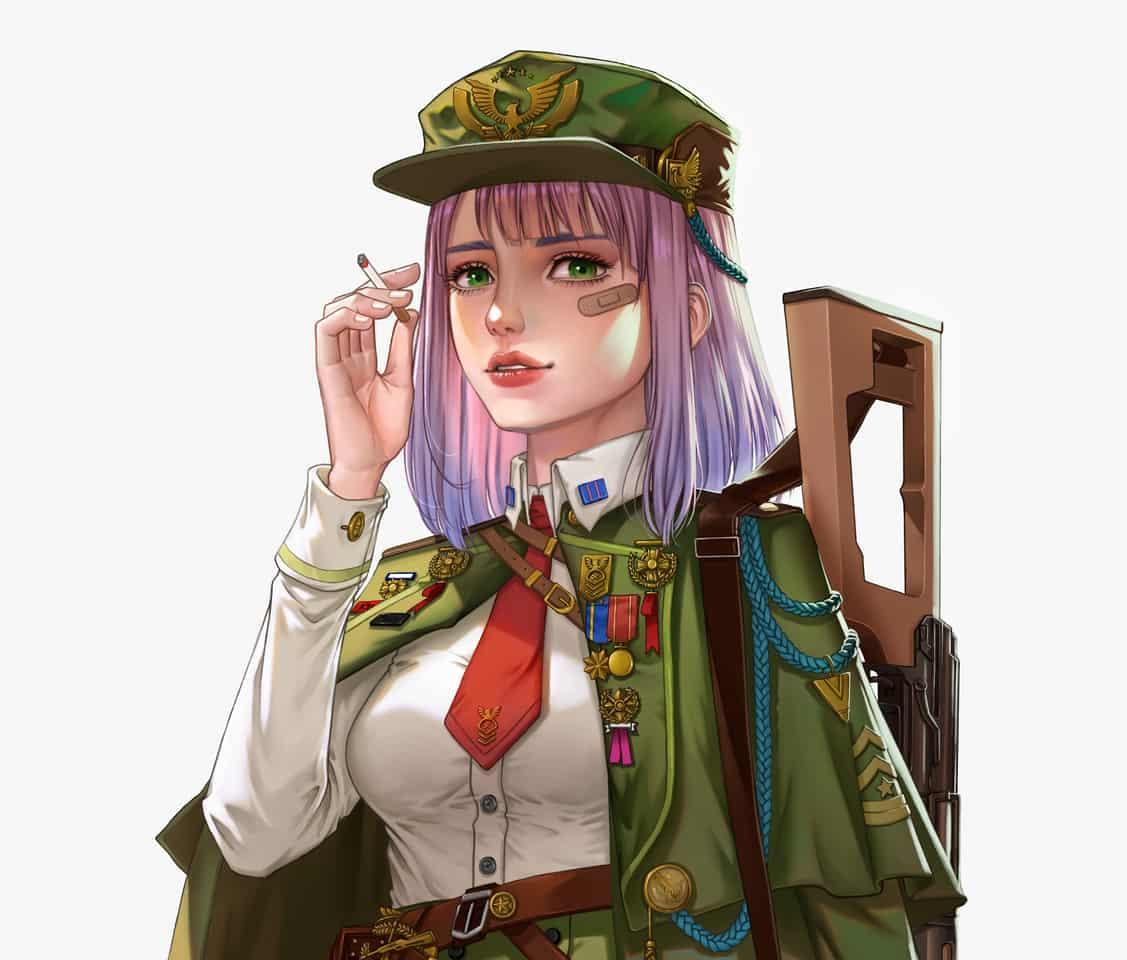 角色设计 Illust of YongNing characterdesign girl guns