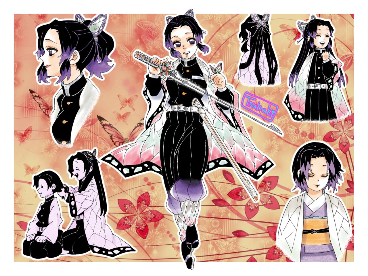 胡蝶しのぶ Illust of SaraLuna02 manga girl しのぶ KimetsunoYaiba butterfly anime しのぶさん KochouShinobu hair
