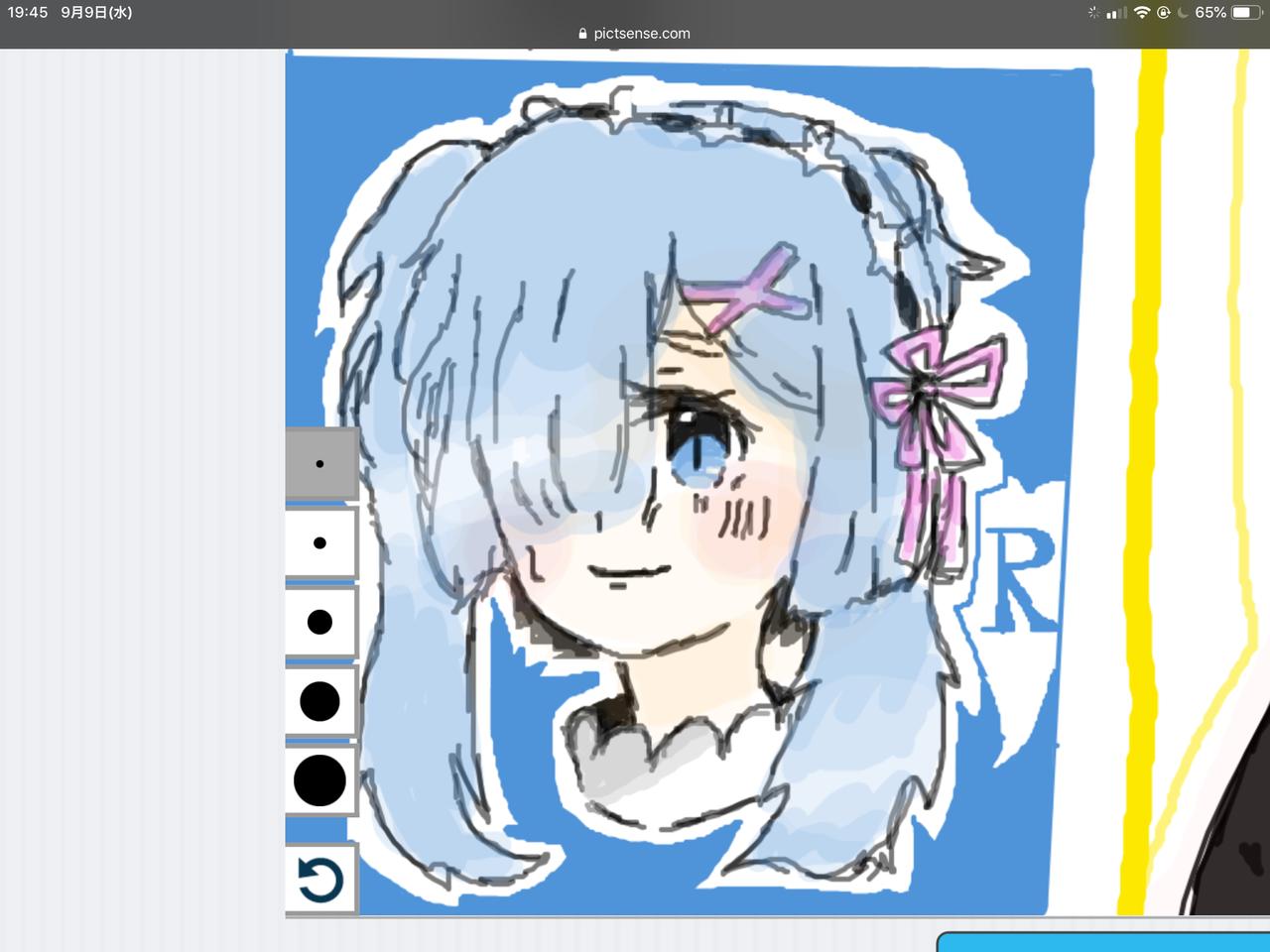 ツインテールレム Illust of 🥩ちぅ🥩 Re:Zero twin_ponytails レム medibangpaint ピクトセンス