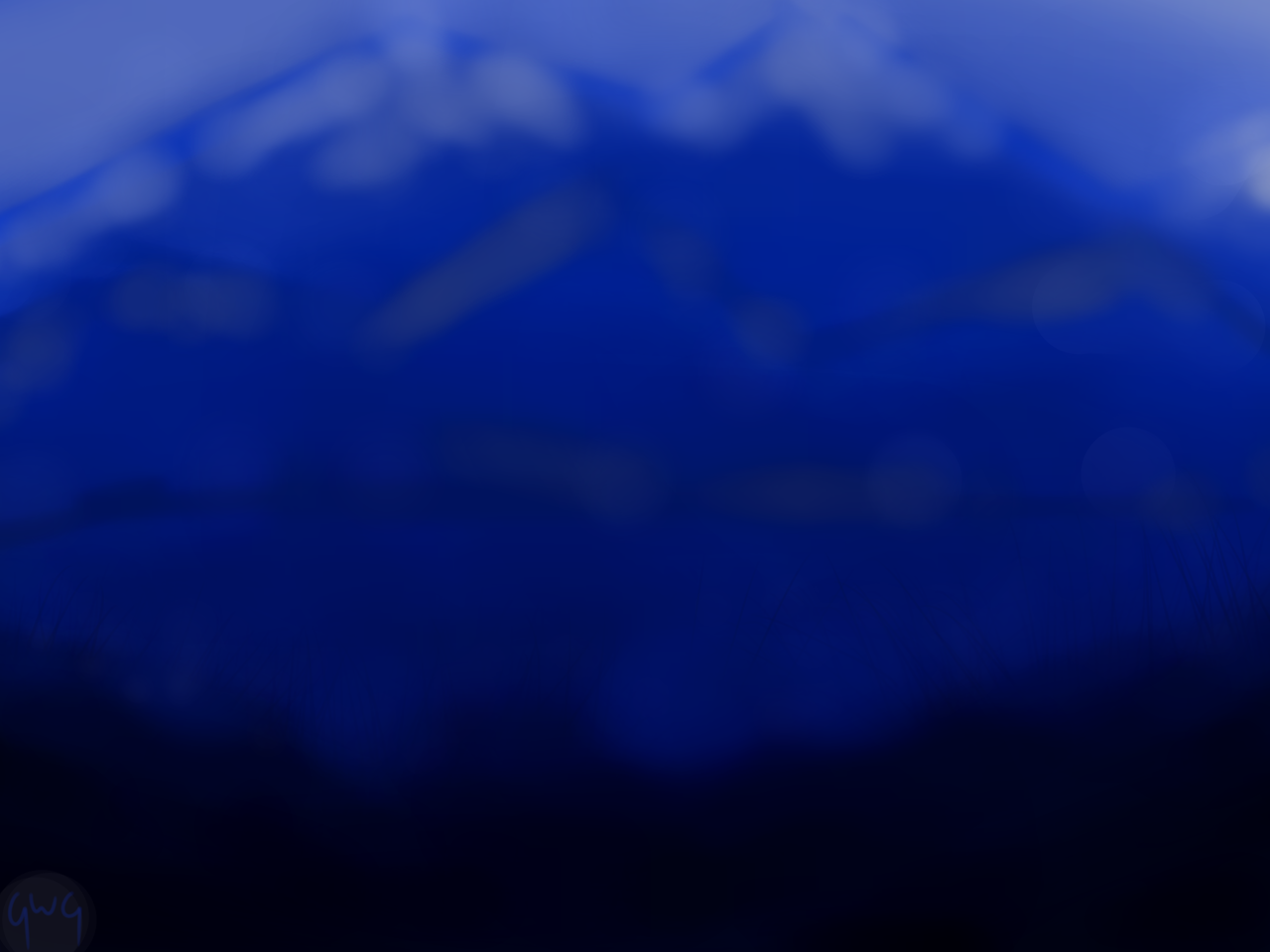 feeling blue?  Illust of Thunderstar_qwq scenery blue mountains medibangpaint