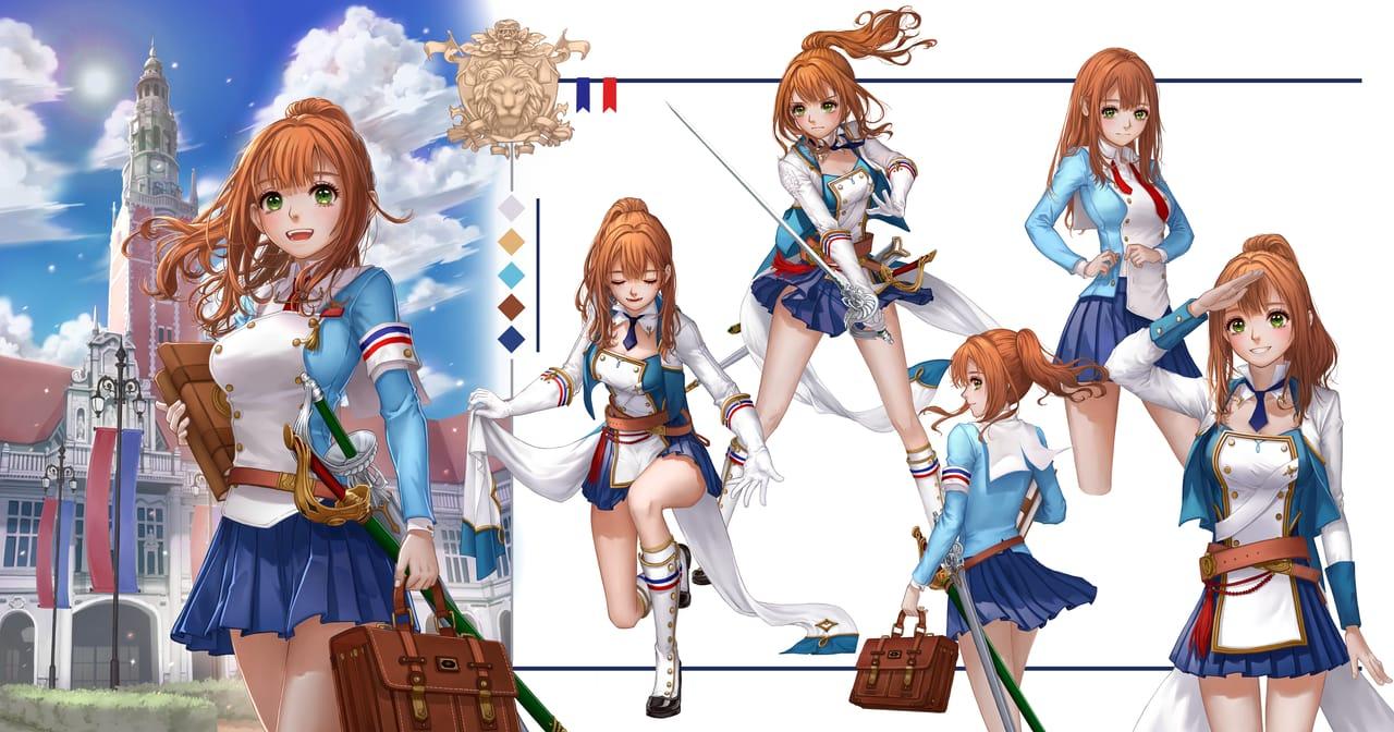 骑士候补生 Illust of YongNing January2021_Contest:OC oc girl Beauty blue 剑士