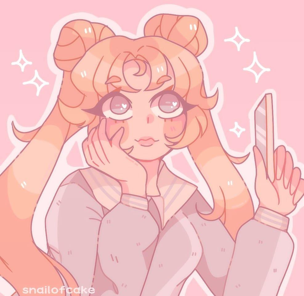 🌙Moon Prism Power🌙 Illust of snailofcake original sailormoonredraw art Artwork pastel cute anime aesthetic PrettyGuardianSailorMoon kawaii
