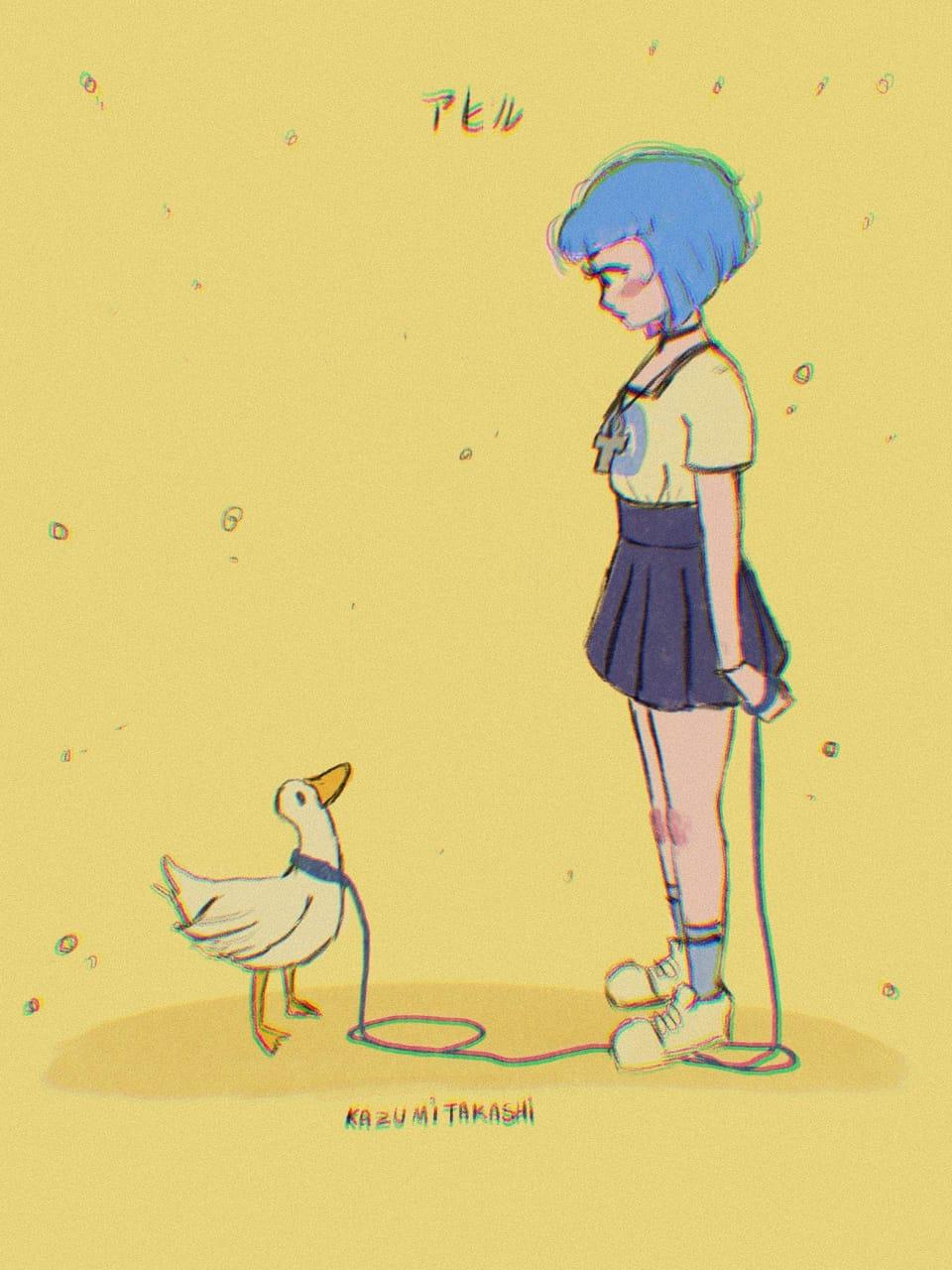 inner peace Illust of かずみたかし kazumitakashi original duckdood myself kazumi le