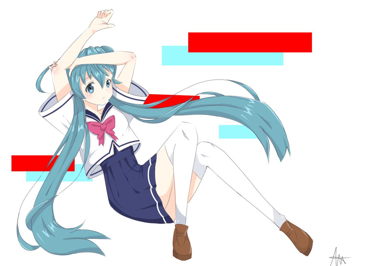 Hatsune Miku Illust of DonutAddic medibangpaint hatsunemiku uniform