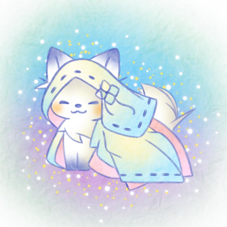 狐の花嫁さん。 Illust of 兎卯子 original animal 小動物 digital blue fox
