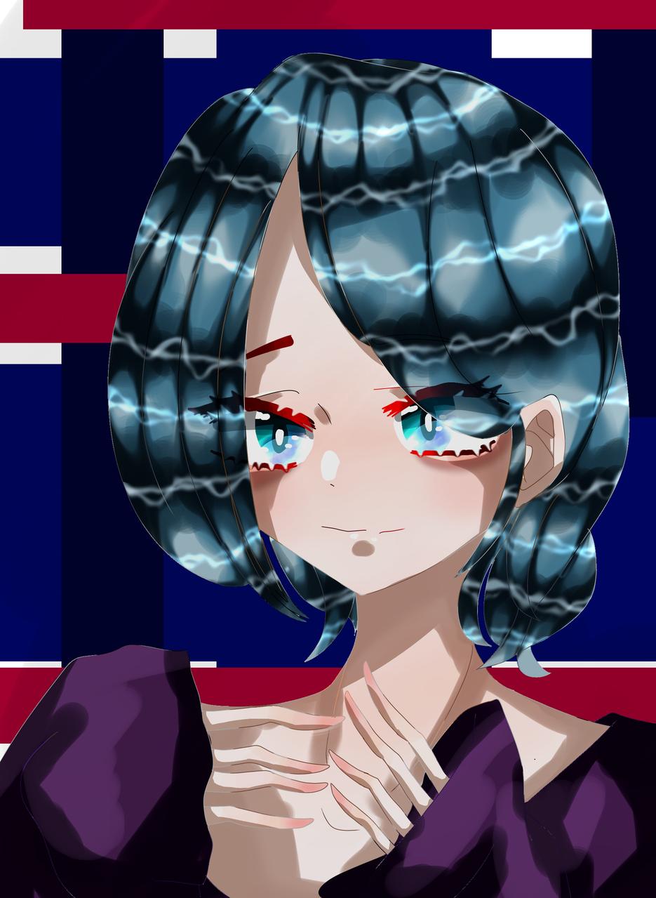 I LOVE YOU Illust of 如月来蕾≮TRPG≯ medibangpaint 水色 Yandere oc 恋 girl purple