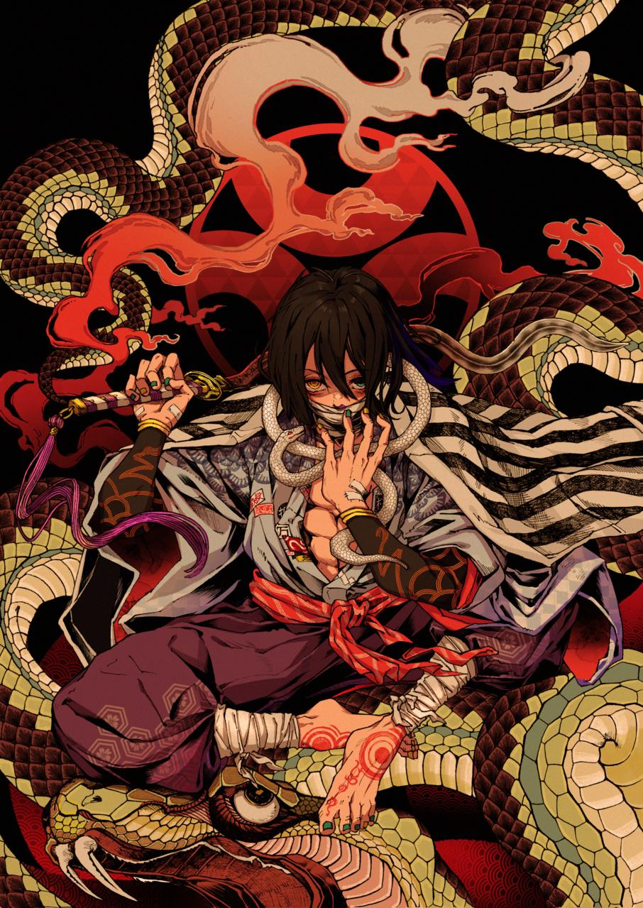 「どう処分する。どう責任を取らせる。どんな目に合わせてやろうか。」 Illust of 海月いまり DemonSlayerFanartContest firstpost fanart snake アナログ 蛇柱