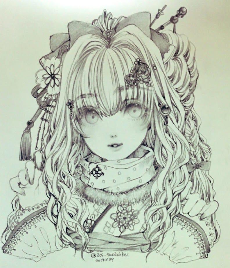 和洋折衷 Illust of 青砂時計 ファンタジーキャラ original シャープペン oc AnalogDrawing
