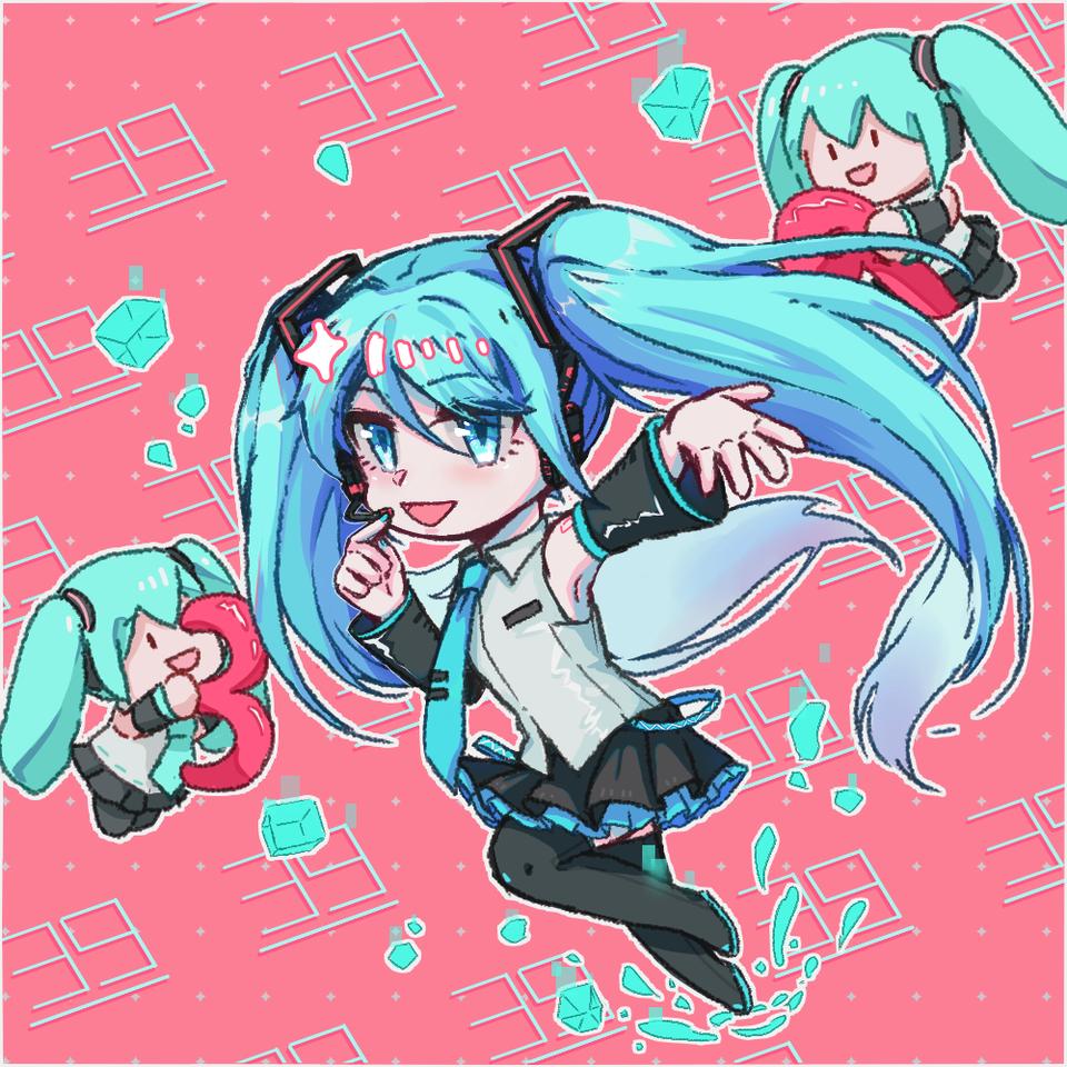 Miku!! Illust of 大猪蹄子 medibangpaint hatsunemiku painting miku VOCALOID girl Fingerpaint