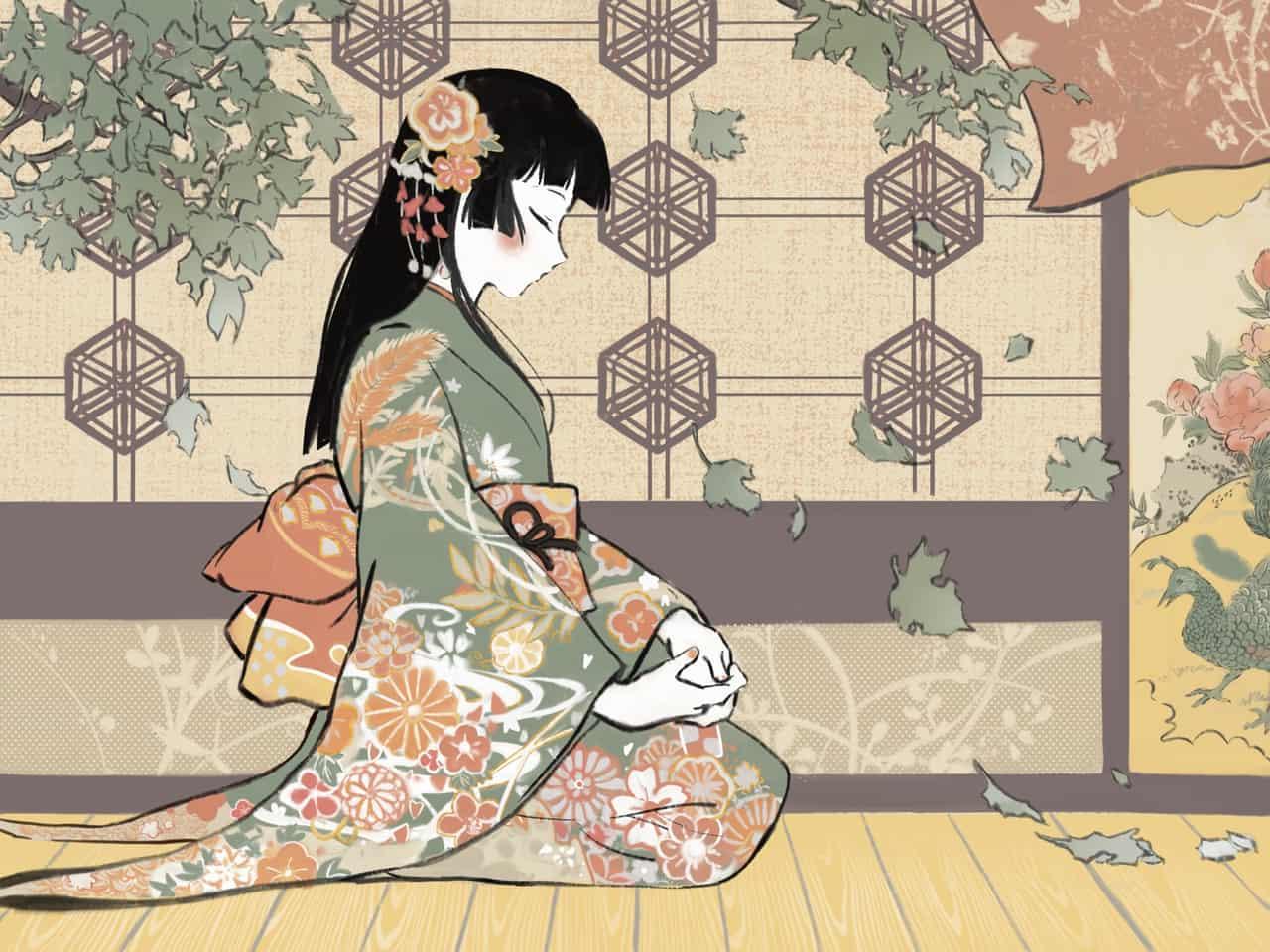 思 Illust of NyanChan Kyoto_Award2020_illustration illustration kimono girl
