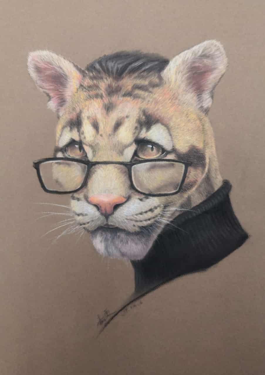 濒危生物云豹 Illust of teshen September2020_Contest:Furry 云豹 濒危生物