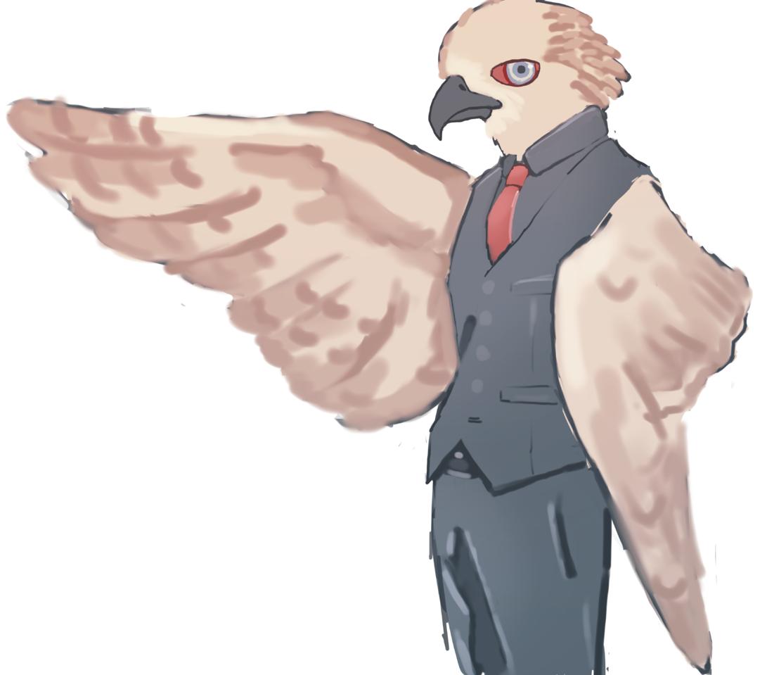鳥執事 Illust of w birds レッツワンドロ
