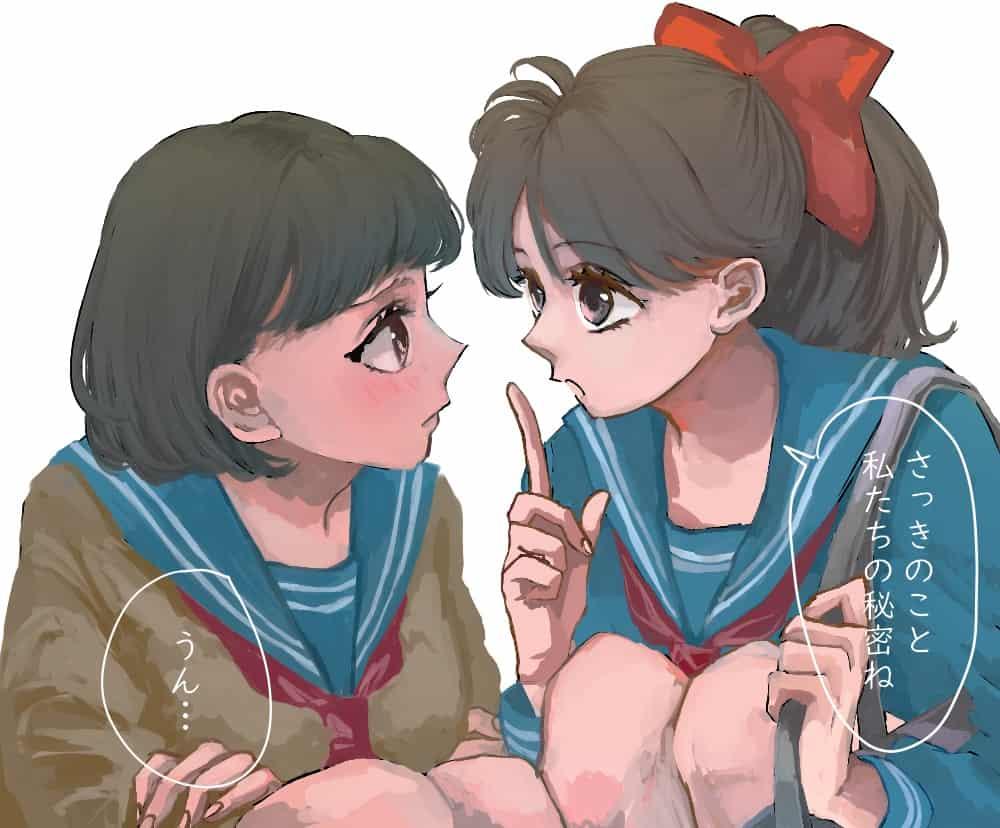 秘密 Illust of 山吹 ponytail girl sailor_uniform 百合