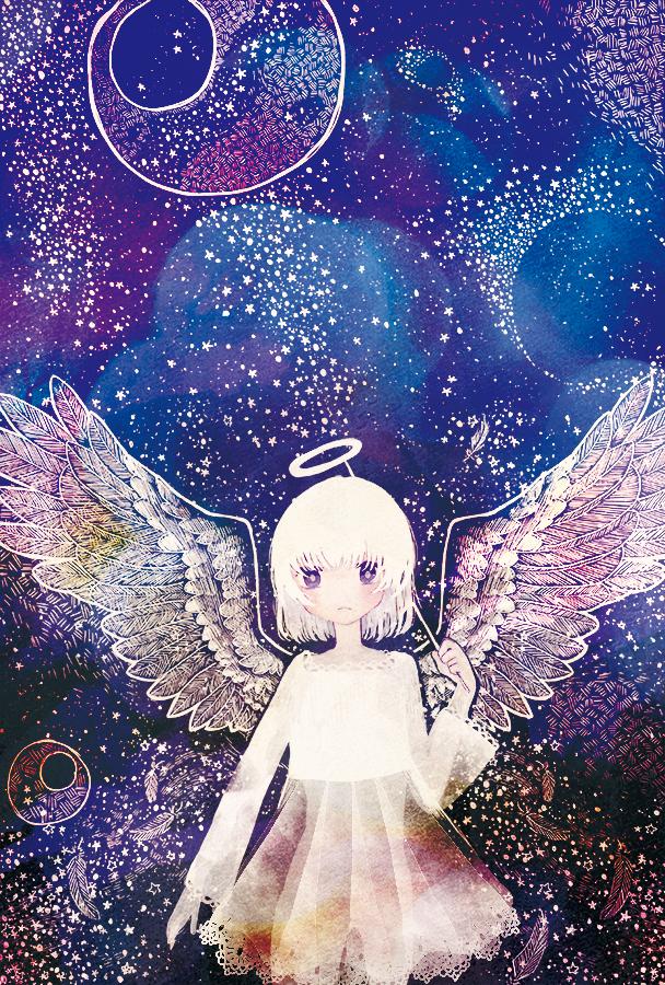 天使 Illust of 灰田みなみ original angel girl