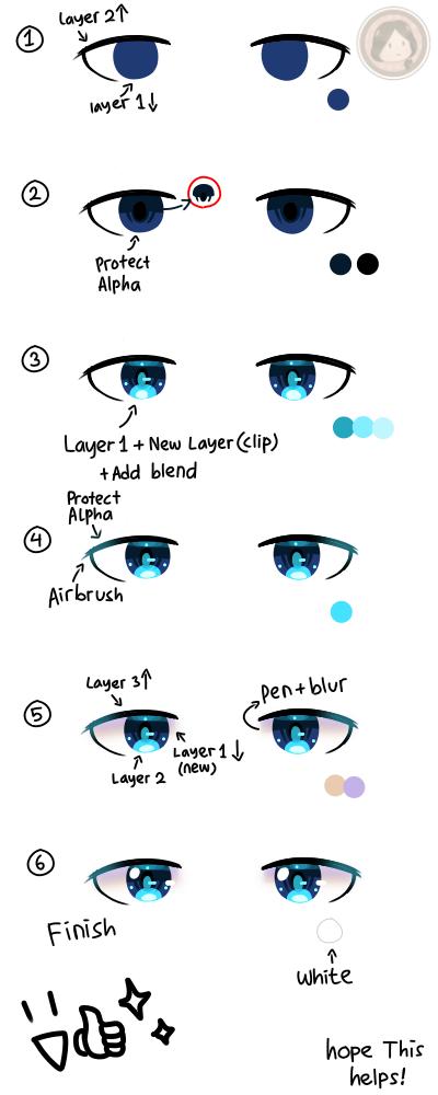 eyes tutorial ✨ Illust of Amai☆ medibangpaint blue 目イキング howto tutorial eyes