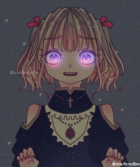 Gothic Illust of Marfy ゴスロリ 闇 きらきら black blonde girl 病みかわいい kawaii ロリータ