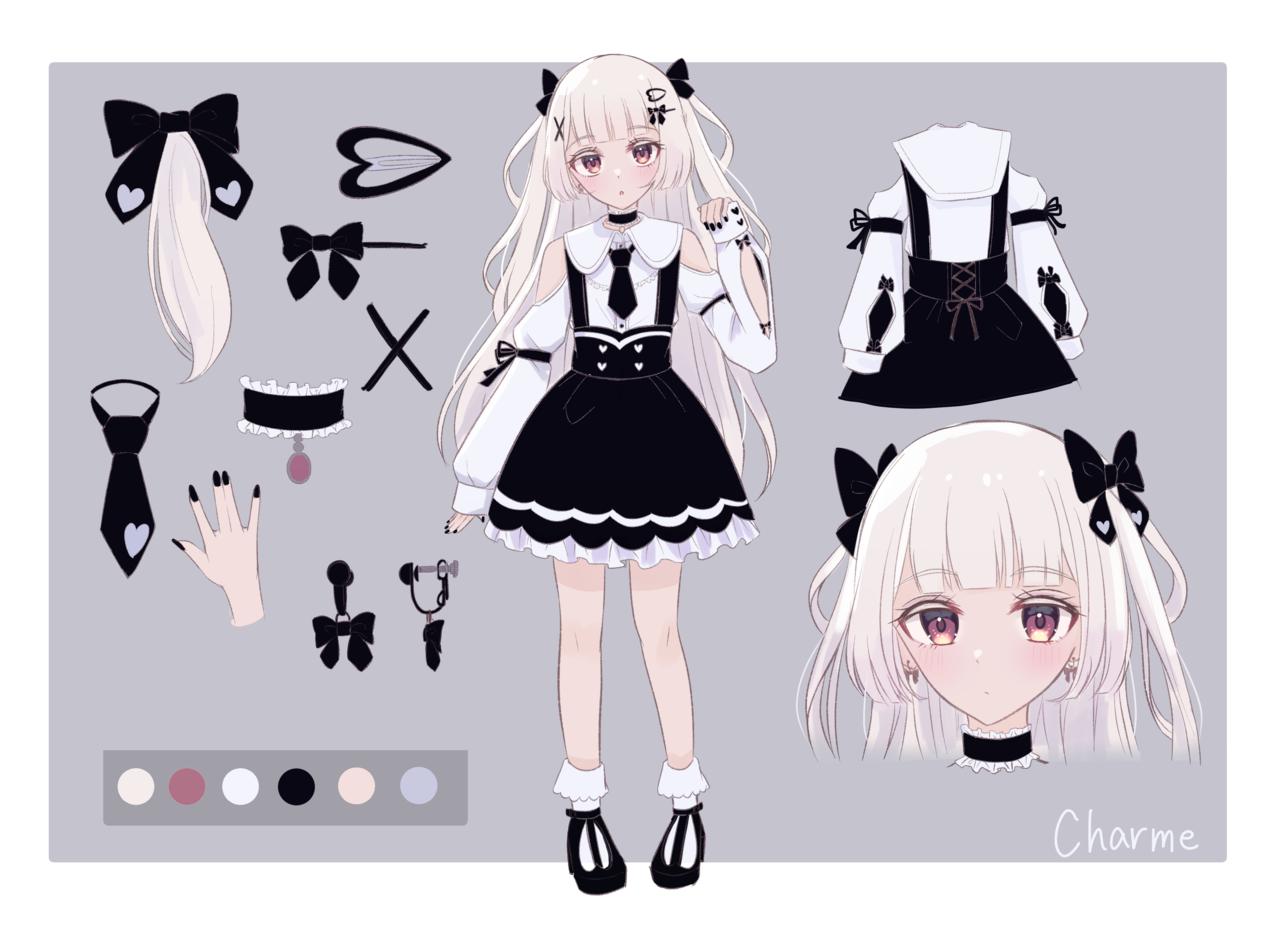 設定画 Illust of じゅにねう 設定 girl white_hair original