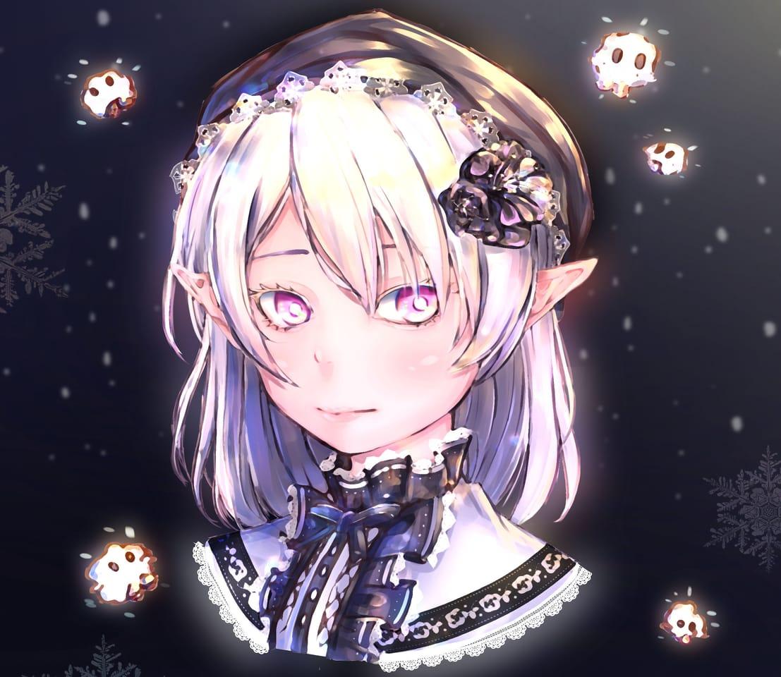 雪の国ノ白い少女 Illust of Akazawa syouhei illustration 洋裝 girl 奇幻 snow original impasto 精靈 角色 fairy