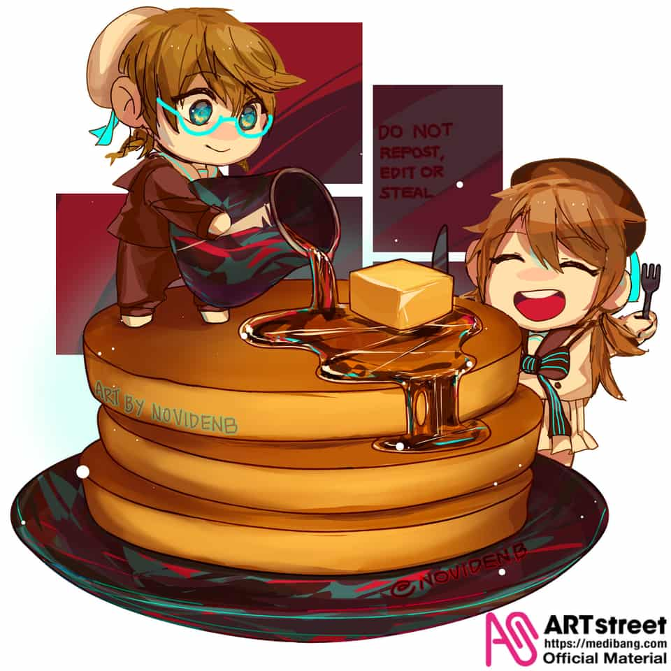Shijima Mei Pancake Trace and Draw Illust of noviden Trace&Draw【Official】 Toilet-boundHanako-kun girls jshk ShijimaMei pancake 花子くん 花子くんアニメ