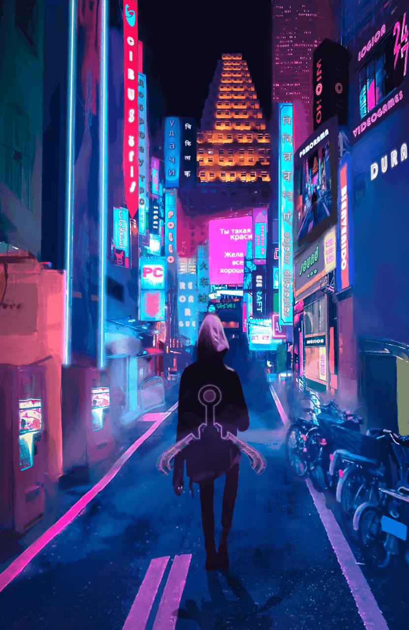 Devorador Illust of Foxvon November2020_Contest:Cyberpunk cyberpunk illustration digitalpainting realistic neon