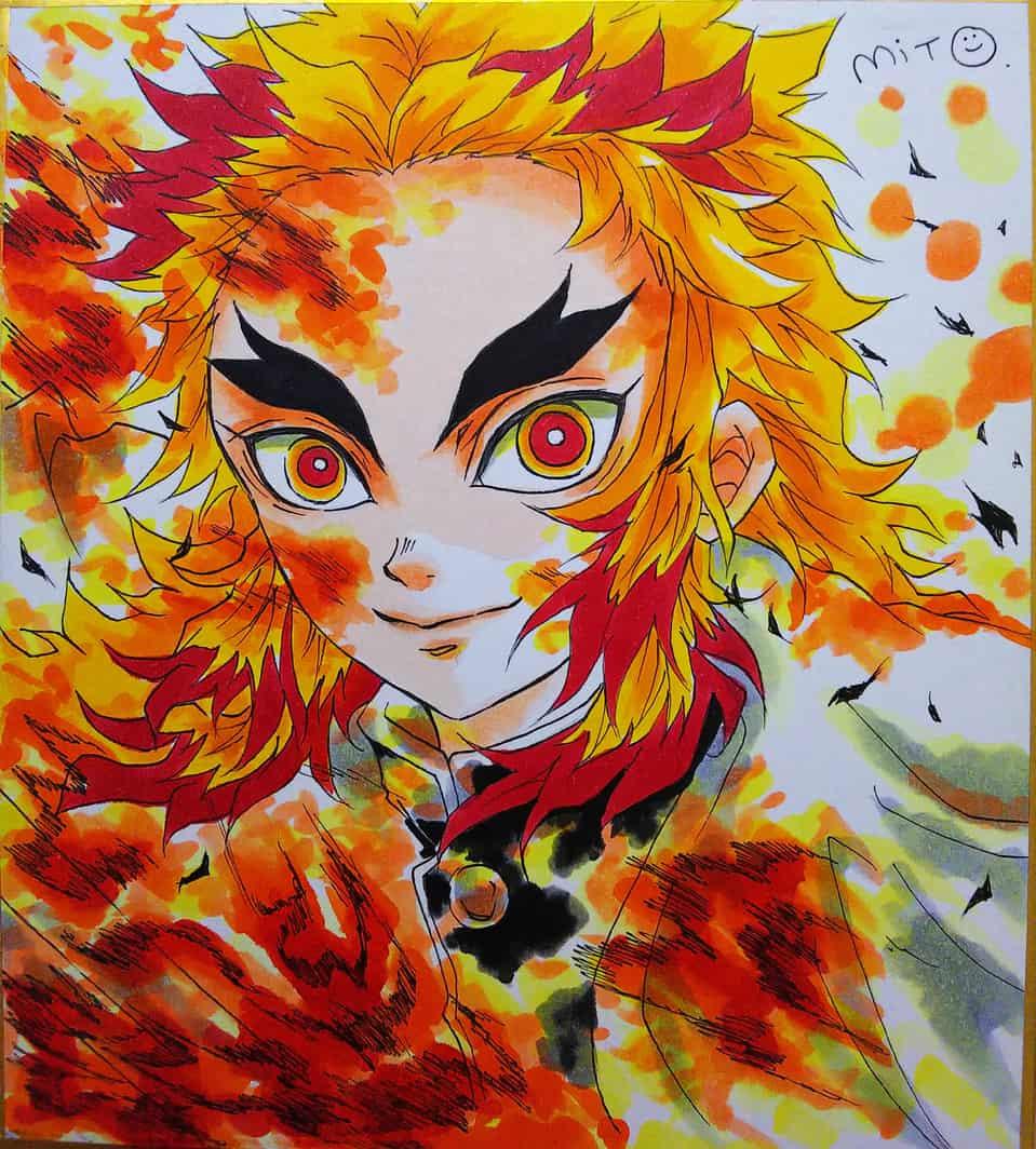 炎。 Illust of ミト DemonSlayerFanartContest RengokuKyoujurou KimetsunoYaiba 炎柱 コピックイラスト