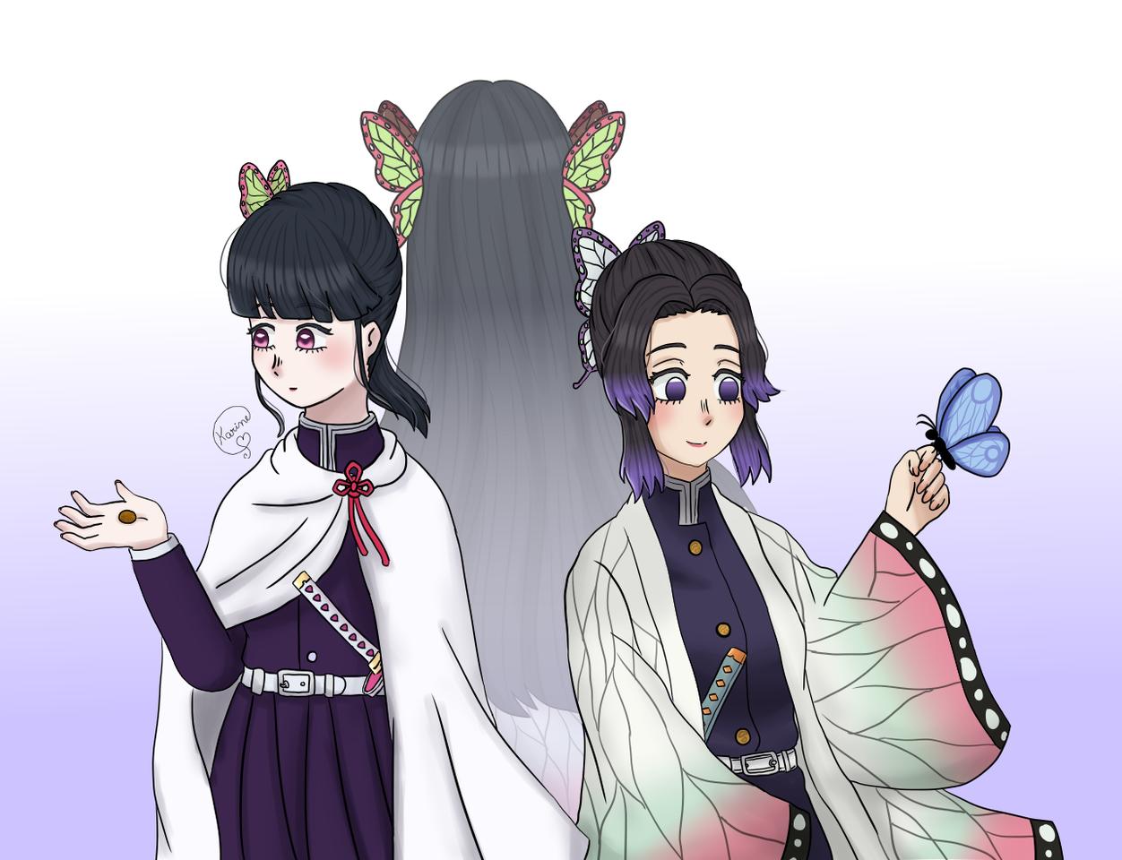 ༺❀ Kanao, Kanae & Shinobu ❀༻ Illust of KemyChan DemonSlayerFanartContest KochouShinobu animefanart kanaekochou TsuyuriKanao KimetsunoYaiba knykanao