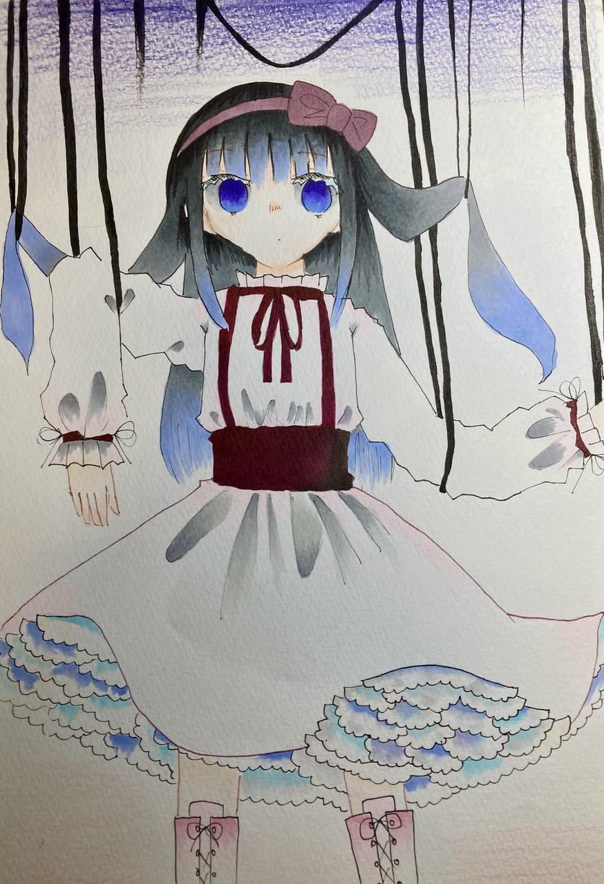 操られるままに。 Illust of ラヴィ#アナログ同盟 Copic girl 病み アナログ
