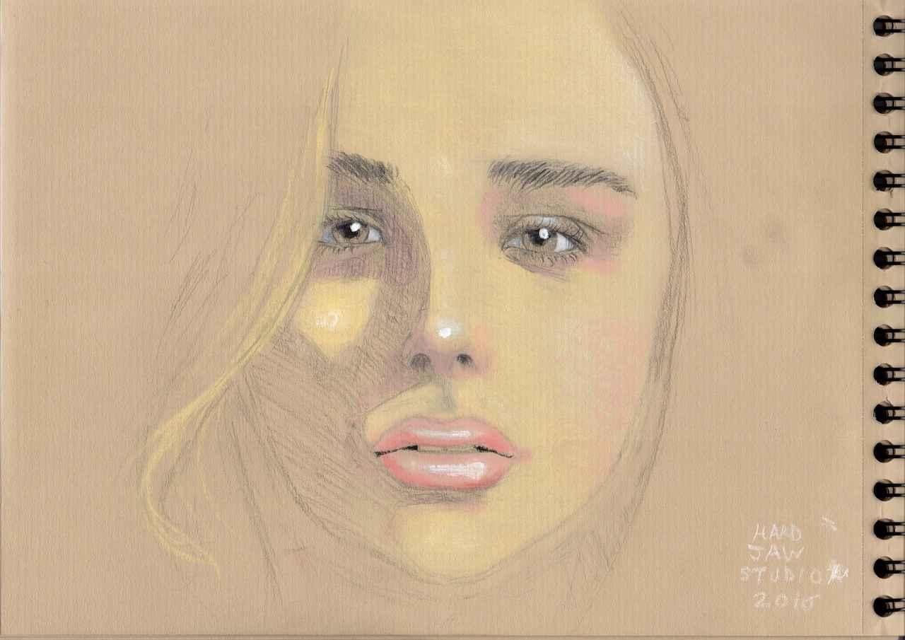 Chloë Grace Moretz (portrait2) Illust of Hard-Jaw face cute ChloëMoretz beauty portrait crayonpastel realiste
