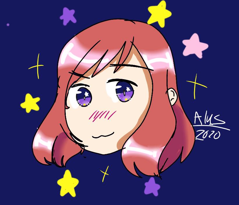 Maki from love live! Illust of ali-chi | Alus uwu (Fundy Mode) Fingerpaint animegirl anime star Love_Live! asthetic makinishikino