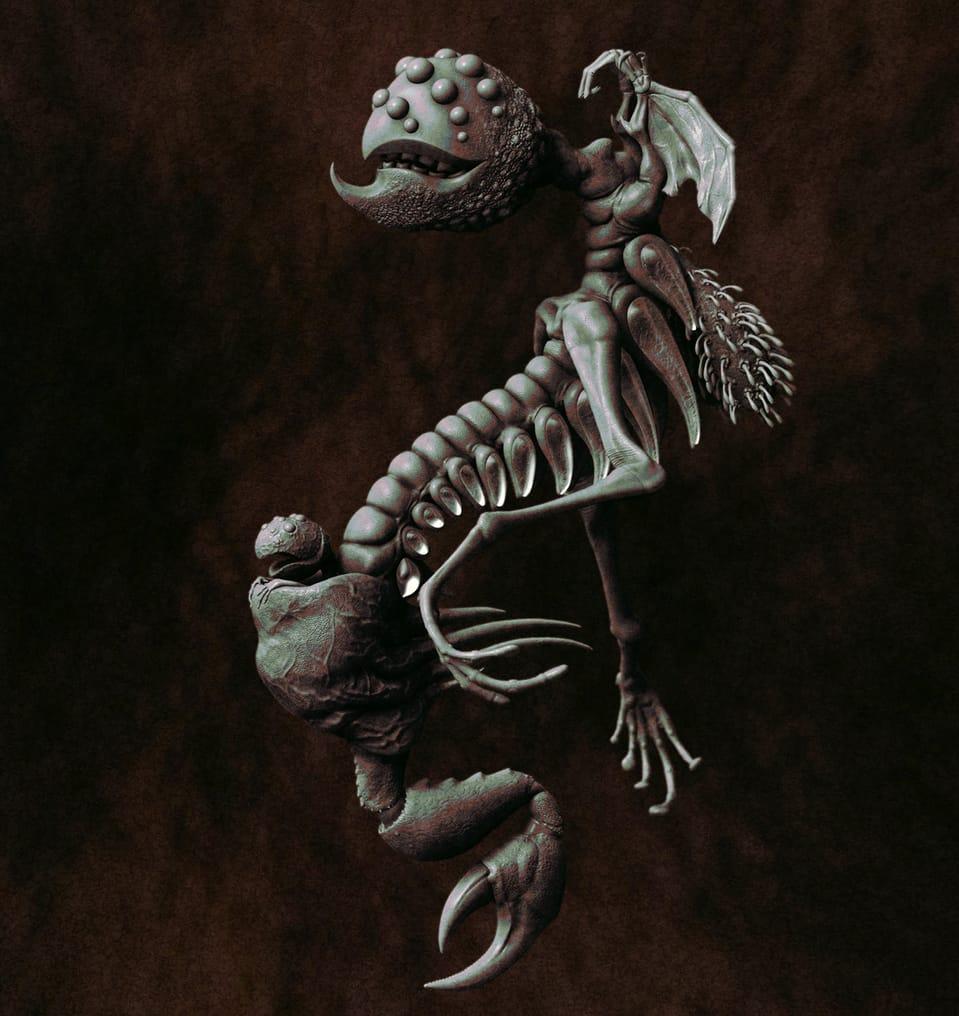 Monster Illust of 猫翁 March2021_Creature クリーチャー monster