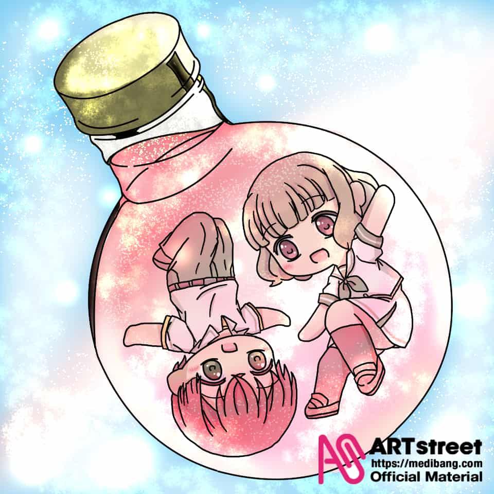 小桃小栗 Illust of Natsume tracedrawing 小桃小栗lovelove物語 もしもし 桃月