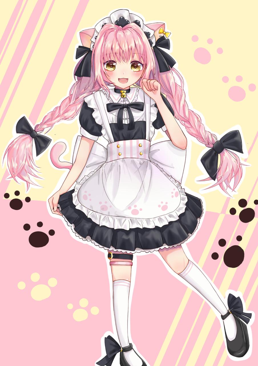 めいどちゃん Illust of 莉桜/りおう cat_ears maid medibangpaint girl